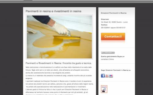 Sito applicatore pavimenti resina